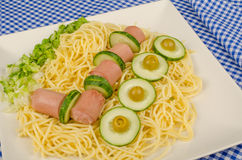 Portion of pasta for children Royalty Free Stock Photo