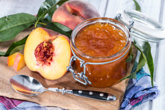 Portion of Peach Jam Royalty Free Stock Photos