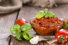 Portion of Tomato Sauce Royalty Free Stock Image