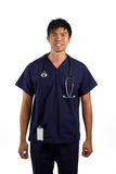 Portrait of an Asian Male Doctor or nurse Stock Images