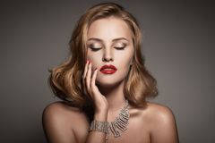 Portrait Of Beautiful Luxury Woman With Jewelry Royalty Free Stock Photos