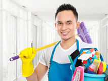 Cleaning service in the office Stock Photos