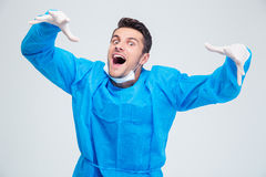 Portrait of a funny male surgeon Stock Photography
