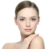 Portrait of girl with clean skin Royalty Free Stock Images