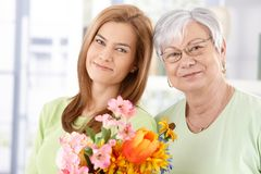Portrait of mother and daughter at Mother's day Stock Photo