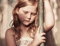 Portrait of sad child Royalty Free Stock Photography