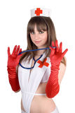 Portrait of the sexy nurse Stock Photography