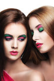 Portrait of two sensuality young beautiful girls Royalty Free Stock Images