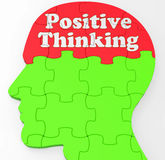 Positive Thinking Mind Shows Optimism Or Belief Royalty Free Stock Photography