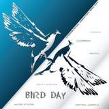 Poster International Migratory Bird Day Stock Image