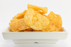 Potato chips barbecue flavour. Royalty Free Stock Photos