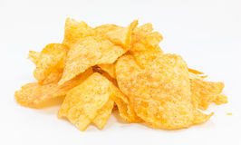 Potato chips barbecue flavour. Royalty Free Stock Image