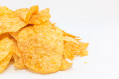 Potato chips barbecue flavour. Royalty Free Stock Photography