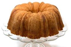 Pound Cake Isolated on White Stock Images