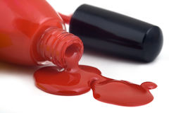 Poured nail varnish, isolated Royalty Free Stock Photo
