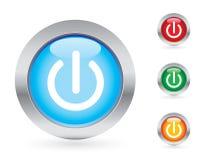 Power button set Stock Images