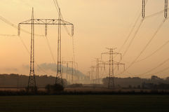 Power station in smog Stock Photos