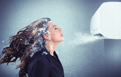 Powerful air conditioner Royalty Free Stock Image