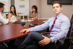 Powerful businessman in an office Royalty Free Stock Image