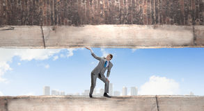 Powerful businessman Stock Image