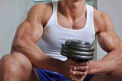 Powerful muscular man Royalty Free Stock Photos