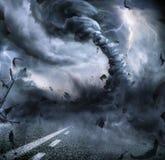 Powerful Tornado - Dramatic Destruction Royalty Free Stock Images