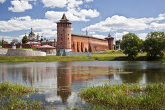 The powerful walls of the Kremlin. Kolomna. Russia Stock Images