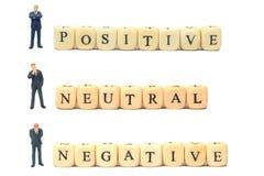 Pozytywny negatyw i neutralny Obraz Stock