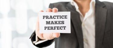 Practice makes perfect Stock Photo