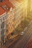 Prague, Aerial View of Vysehrad Buildings Stock Photo