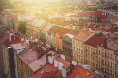Prague, Aerial View of Vysehrad Buildings Royalty Free Stock Image