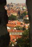 Prague, czech republic from castle wall Stock Images