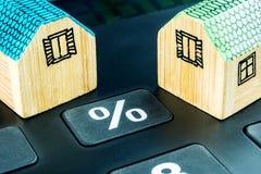 Preis von Immobilien ändert noch Lizenzfreies Stockbild