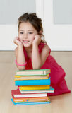 Preschooler with book Royalty Free Stock Images