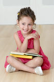 Preschooler with book Royalty Free Stock Photo