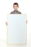Preschooler holding blank placard Stock Image