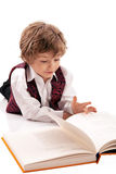 Preschooler reading a book Royalty Free Stock Images