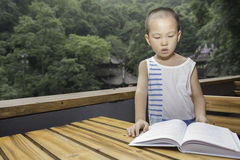 Preschooler reading Royalty Free Stock Images