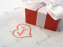 Presente do dia dos Valentim Fotos de Stock