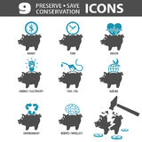 Preserve Save Icons Stock Photography