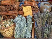 Preserved Orange Slices, Cinnamon Sticks, and Herbal Tea Royalty Free Stock Photos