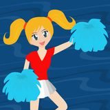 Pretty Cheerleader Stock Photos