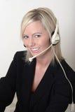 Pretty lady switchboard operator Royalty Free Stock Photo