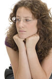 Pretty woman looking sideways Stock Image