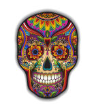 Print mexican traditional scull for T-shirt Stock Image