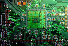 Printed circuit board background Stock Images