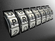 Privacy password combination concept, Three-dimensional image. Stock Photo