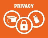 Privatleben- und Sicherheitssystemgraphikikonen Stockbilder