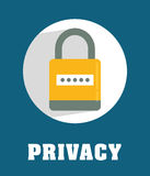 Privatleben- und Sicherheitssystemgraphikikonen Lizenzfreies Stockbild
