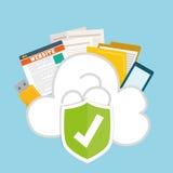 Privatleben- und Sicherheitssystemgraphikikonen Lizenzfreie Stockfotos